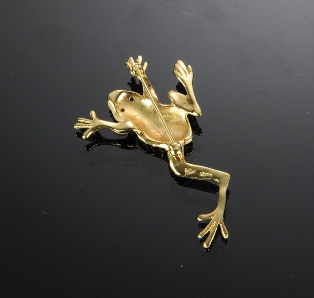 A 14K Gold Frog Pin - 2