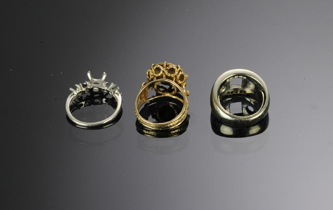 Two 14K Gold & a Platinum Ring - 2