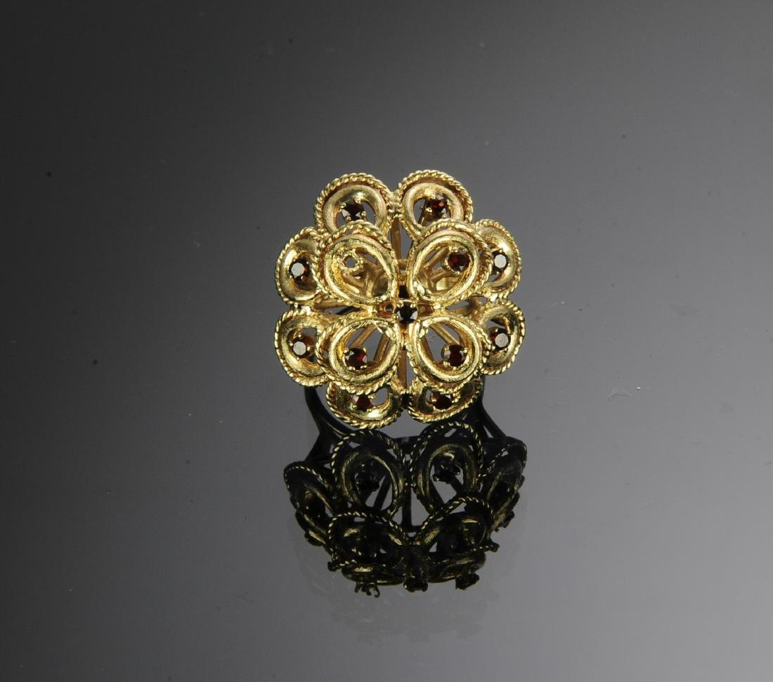 14K Gold & Garnet Victorian Ring - 2