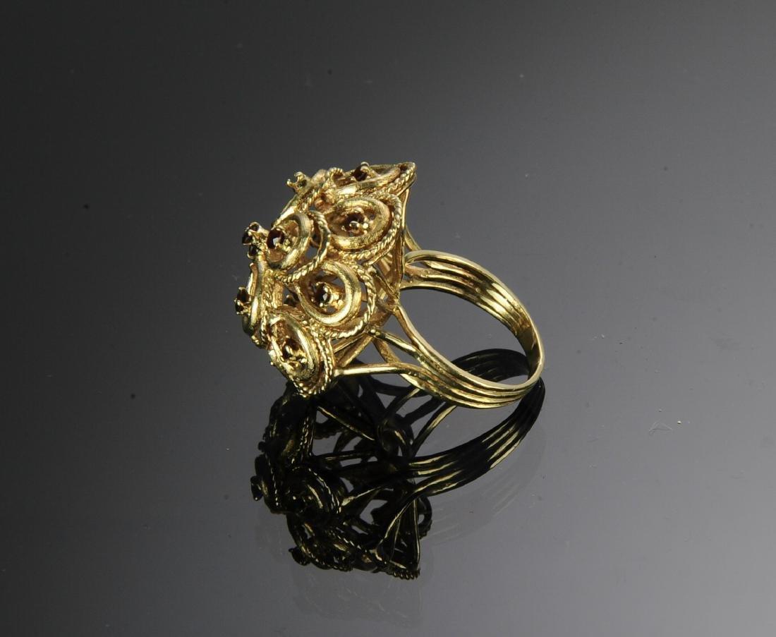 14K Gold & Garnet Victorian Ring - 3