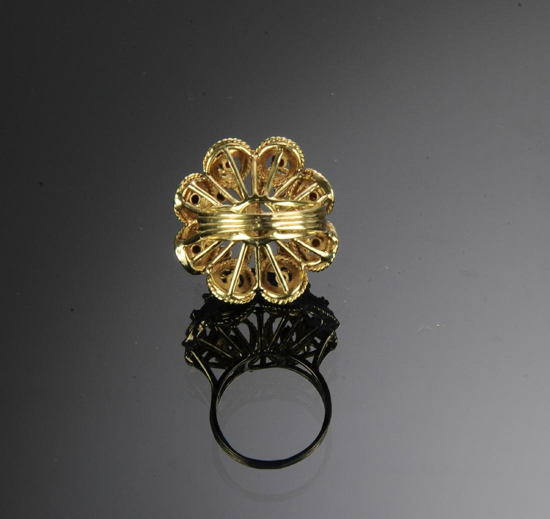 14K Gold & Garnet Victorian Ring - 4