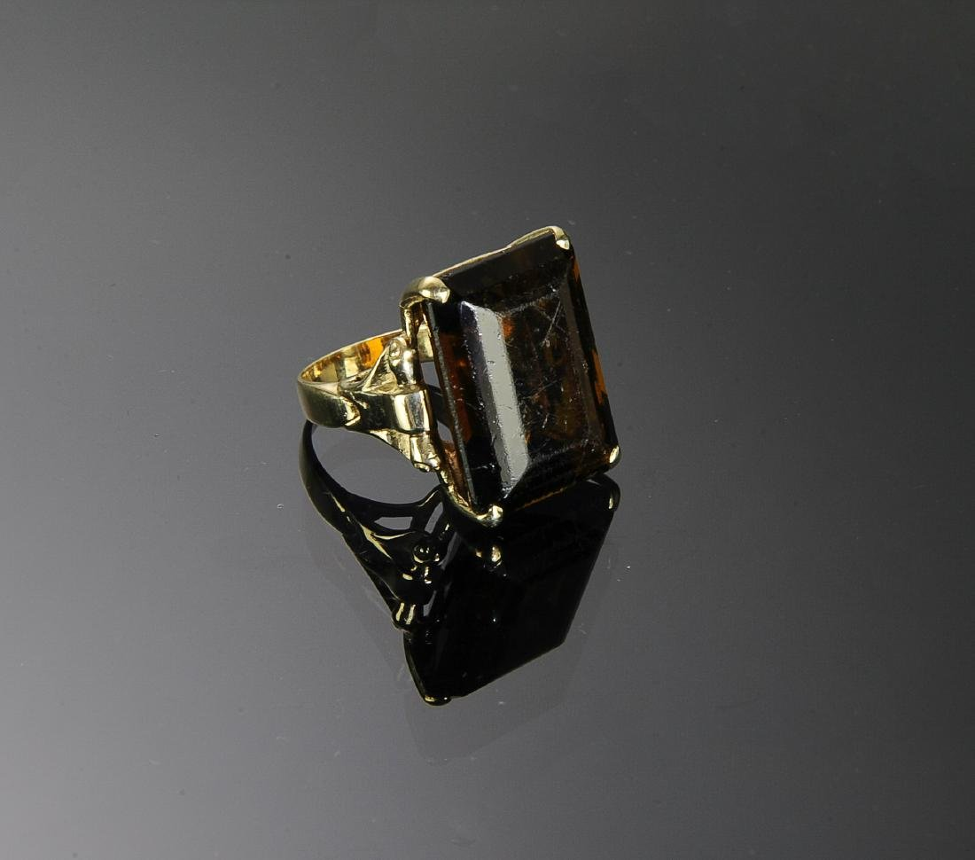 14K Gold and Topaz Ring