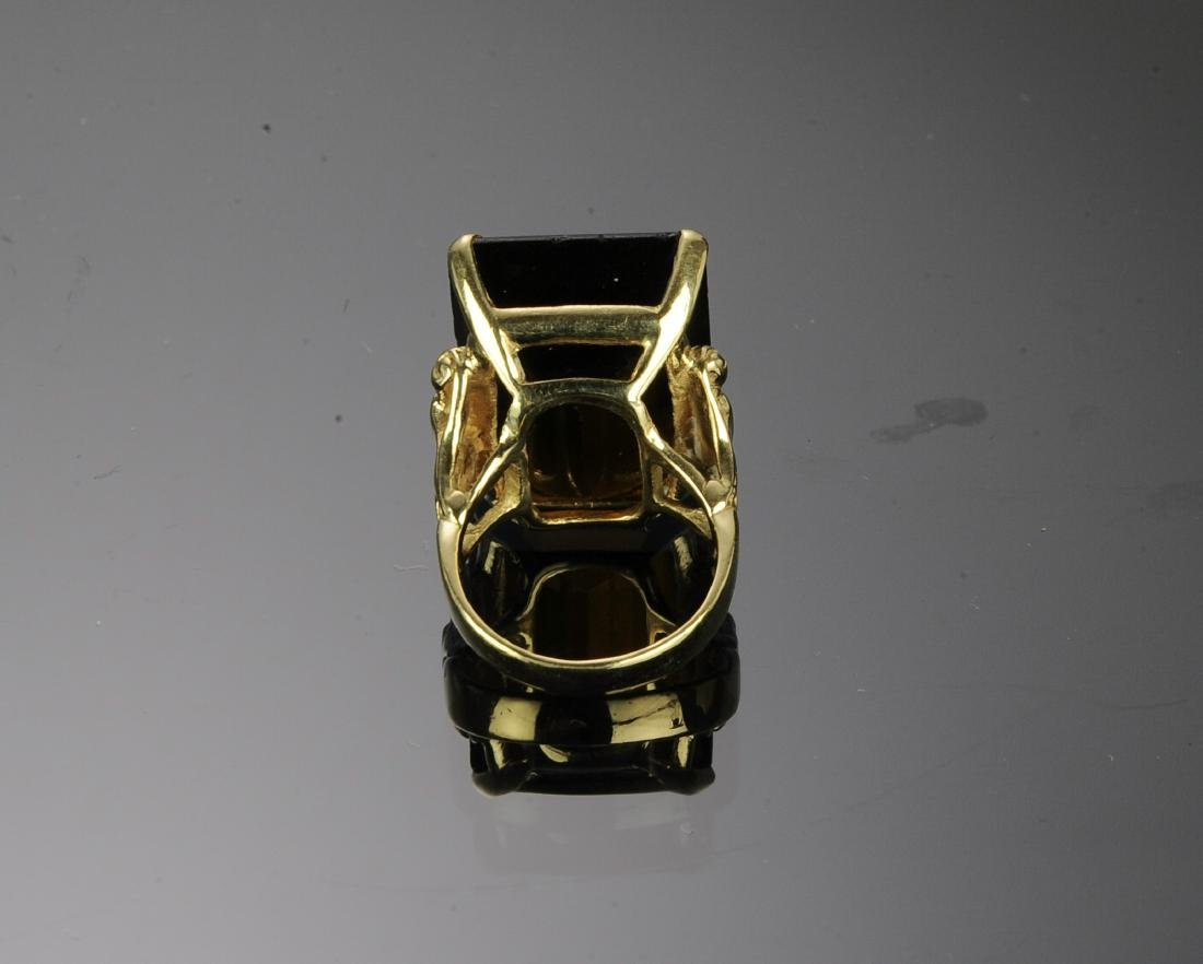 14K Gold and Topaz Ring - 4
