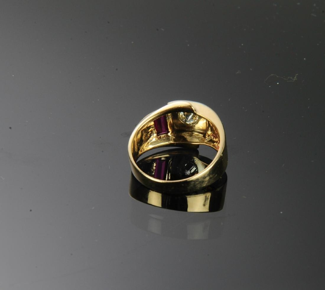14K Gold, Diamond & Ruby Ring - 3