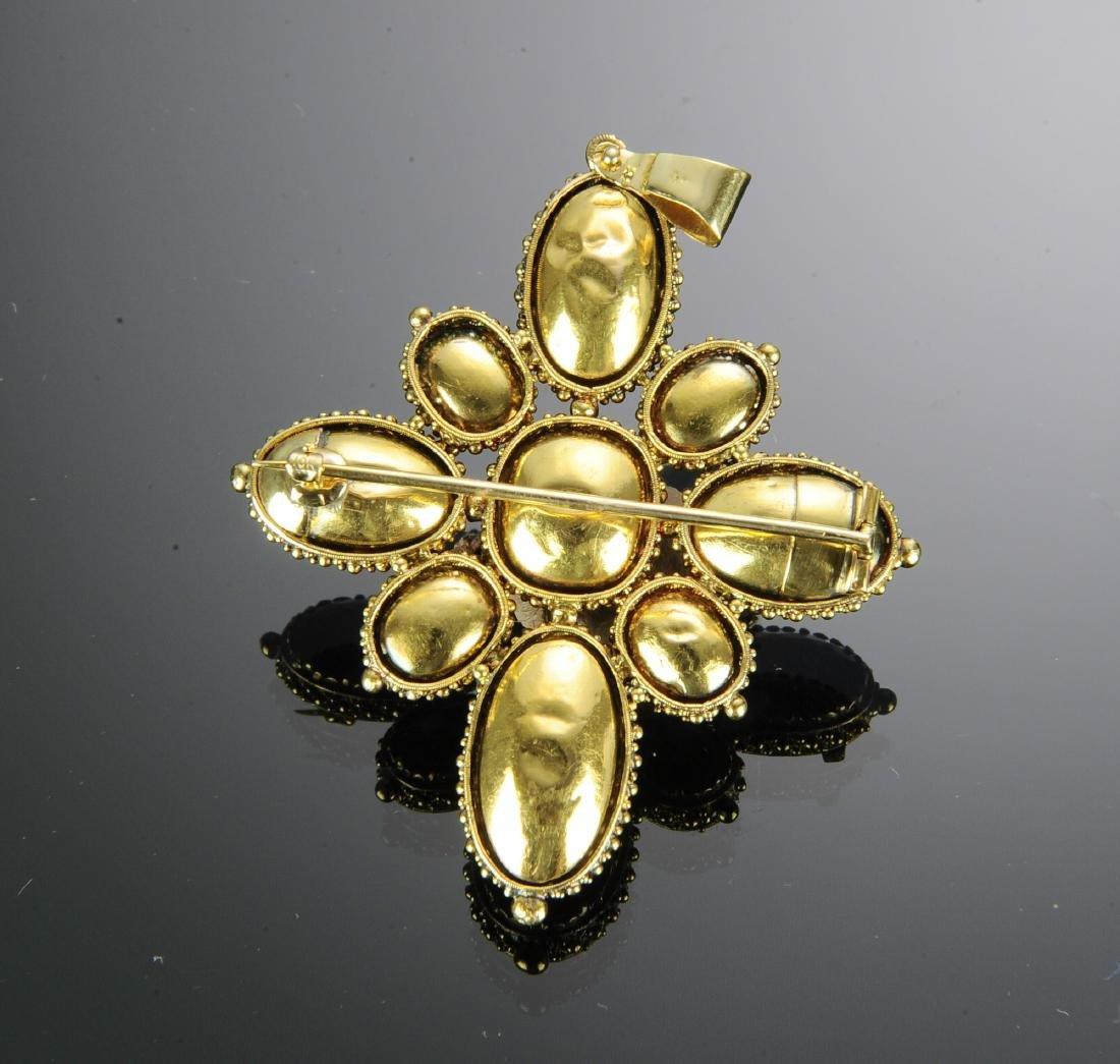 19th Russian Century 18K Gold & Amethyst Brooch - 2