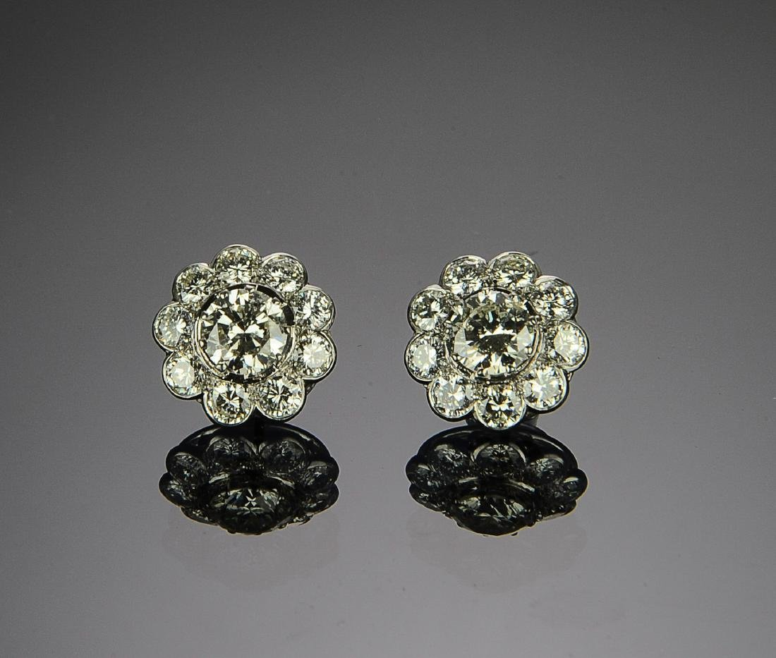An Exceptional Pair of 7.2 Carat Diamond Earrings