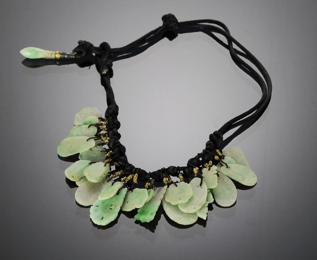 Chinese Jadeite Necklace w/ 38 Pieces, 18th - 19th C