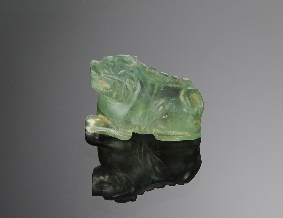 Chinese Green Tourmaline Animal, 18th - 19th C
