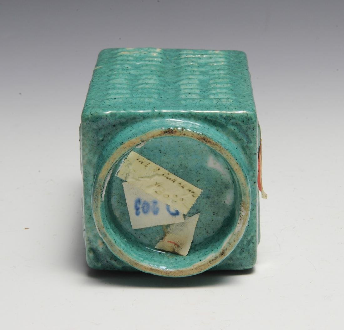 Chinese Green-Glaze Cong Vase, 19th Century - 6