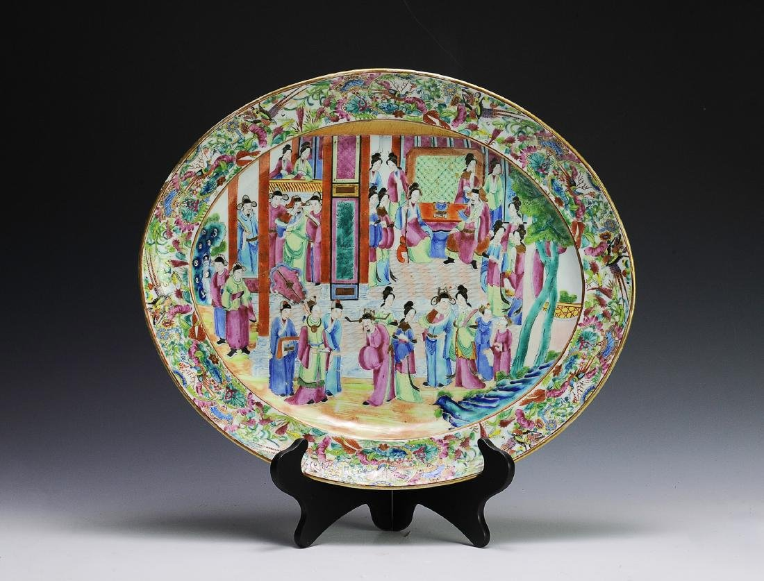 Chinese Export Porcelain Charger, Late 19th C