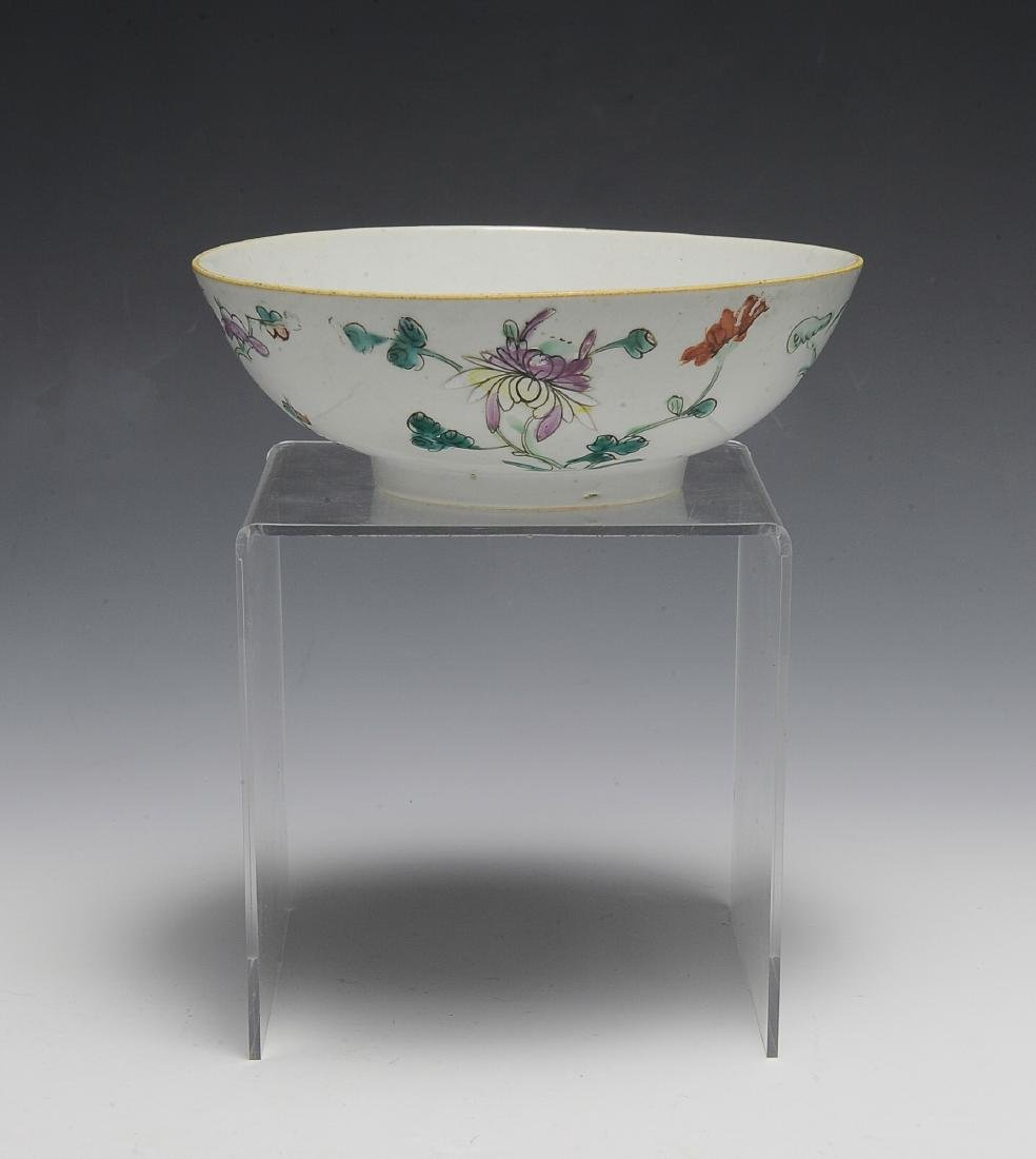 Chinese White Ground Floral Bowl, 19th C