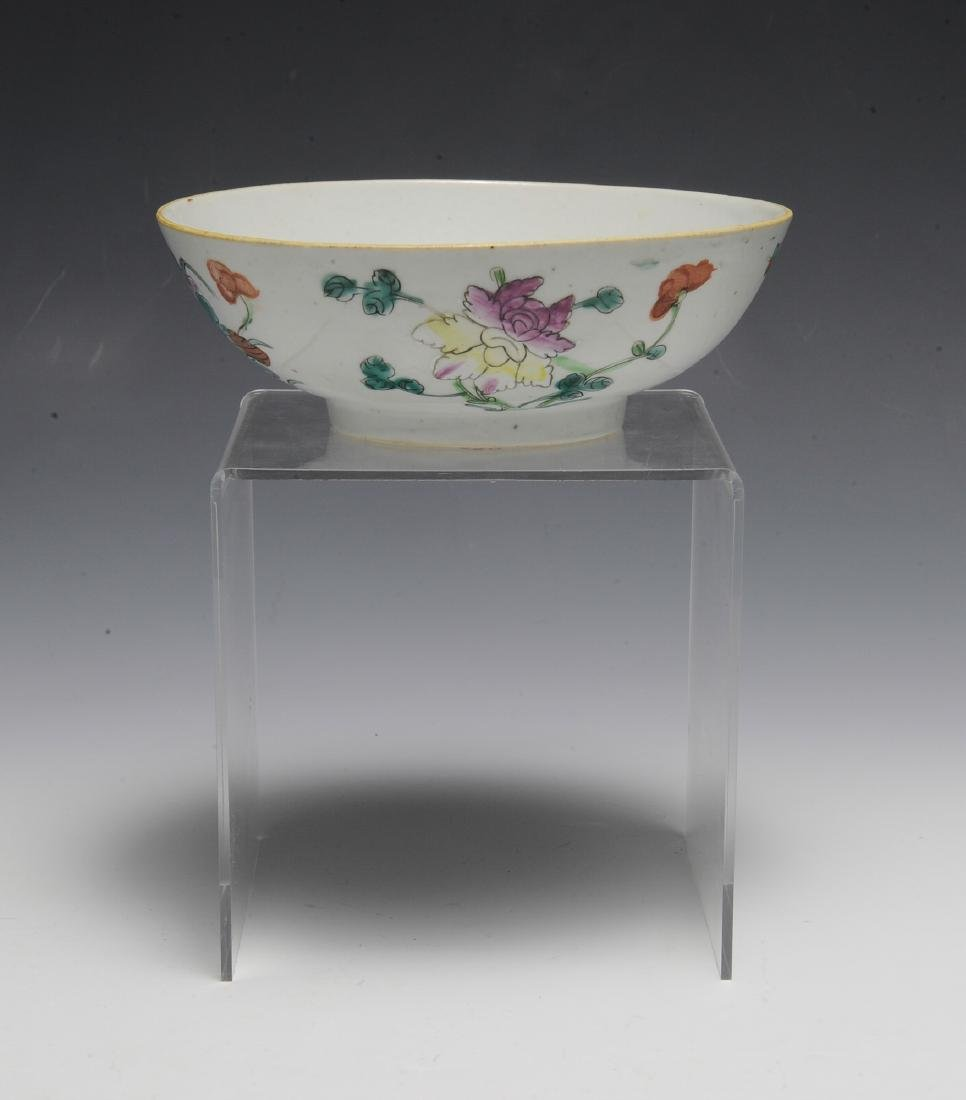 Chinese White Ground Floral Bowl, 19th C - 3