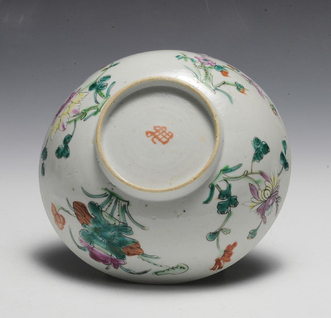 Chinese White Ground Floral Bowl, 19th C - 6