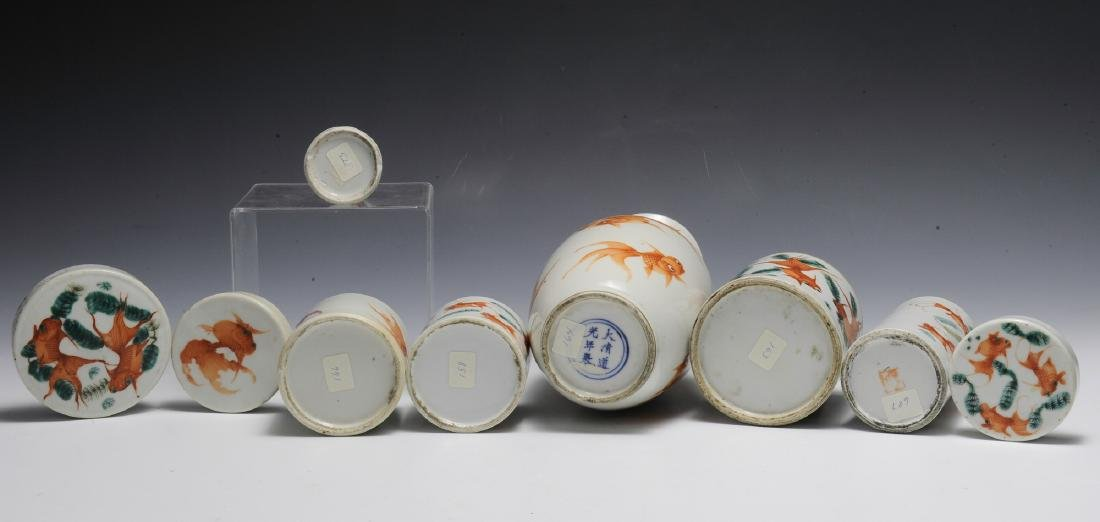 Group of 6 Chinese Goldfish Scholars Items, 19th C - 3