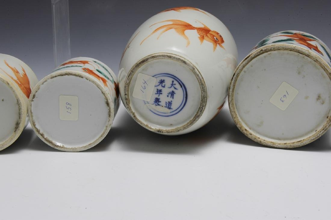 Group of 6 Chinese Goldfish Scholars Items, 19th C - 4