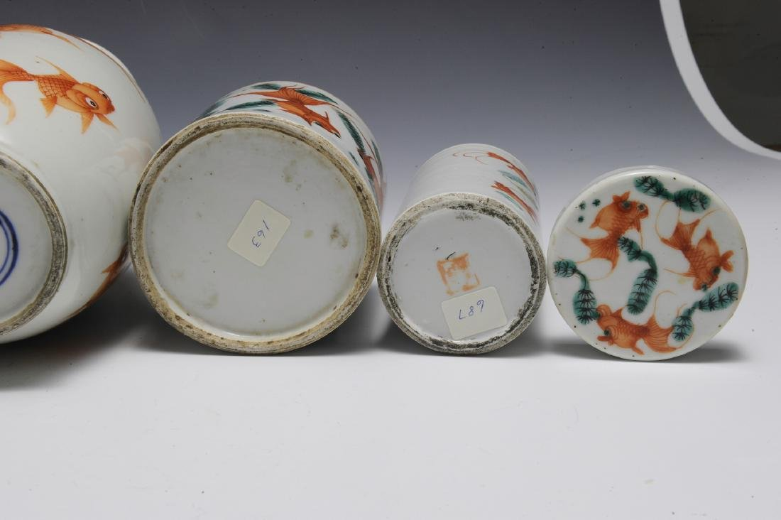Group of 6 Chinese Goldfish Scholars Items, 19th C - 5