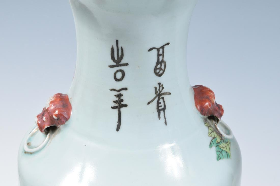 3 Lamps made from Chinese Porcelain Vases - 2