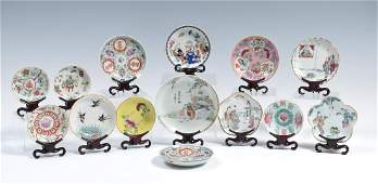 14 Chinese Porcelain Dishes, 19th Century