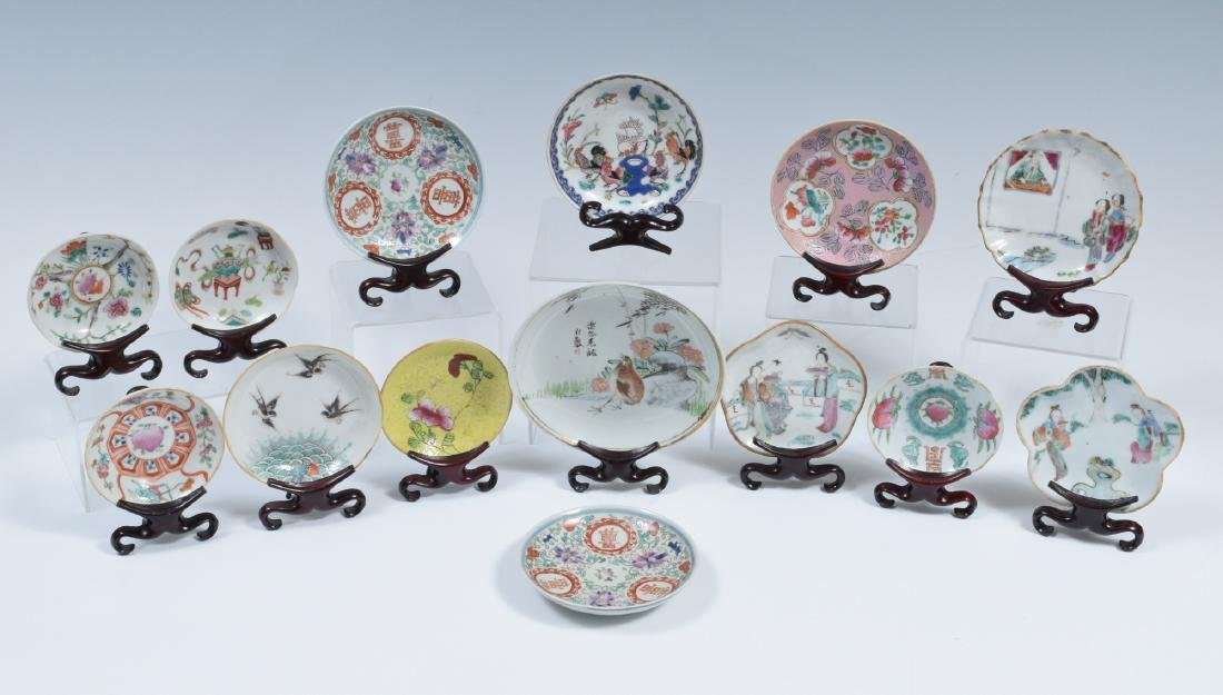 14 Chinese Porcelain Dishes, 19th Century - 2