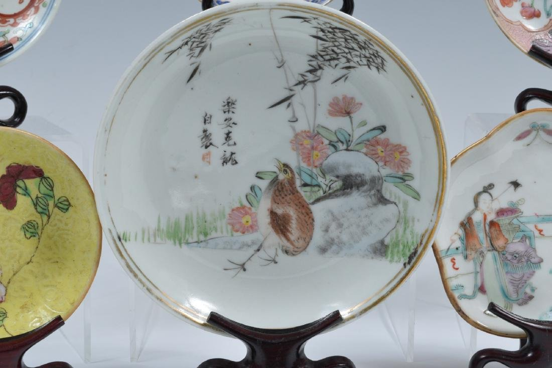 14 Chinese Porcelain Dishes, 19th Century - 4