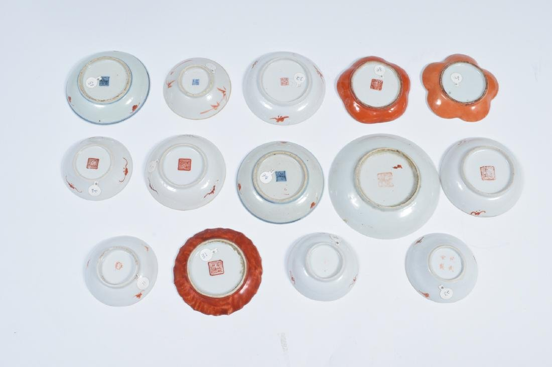 14 Chinese Porcelain Dishes, 19th Century - 6