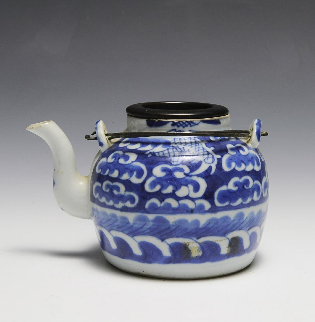 Small Chinese Blue & White Teapot