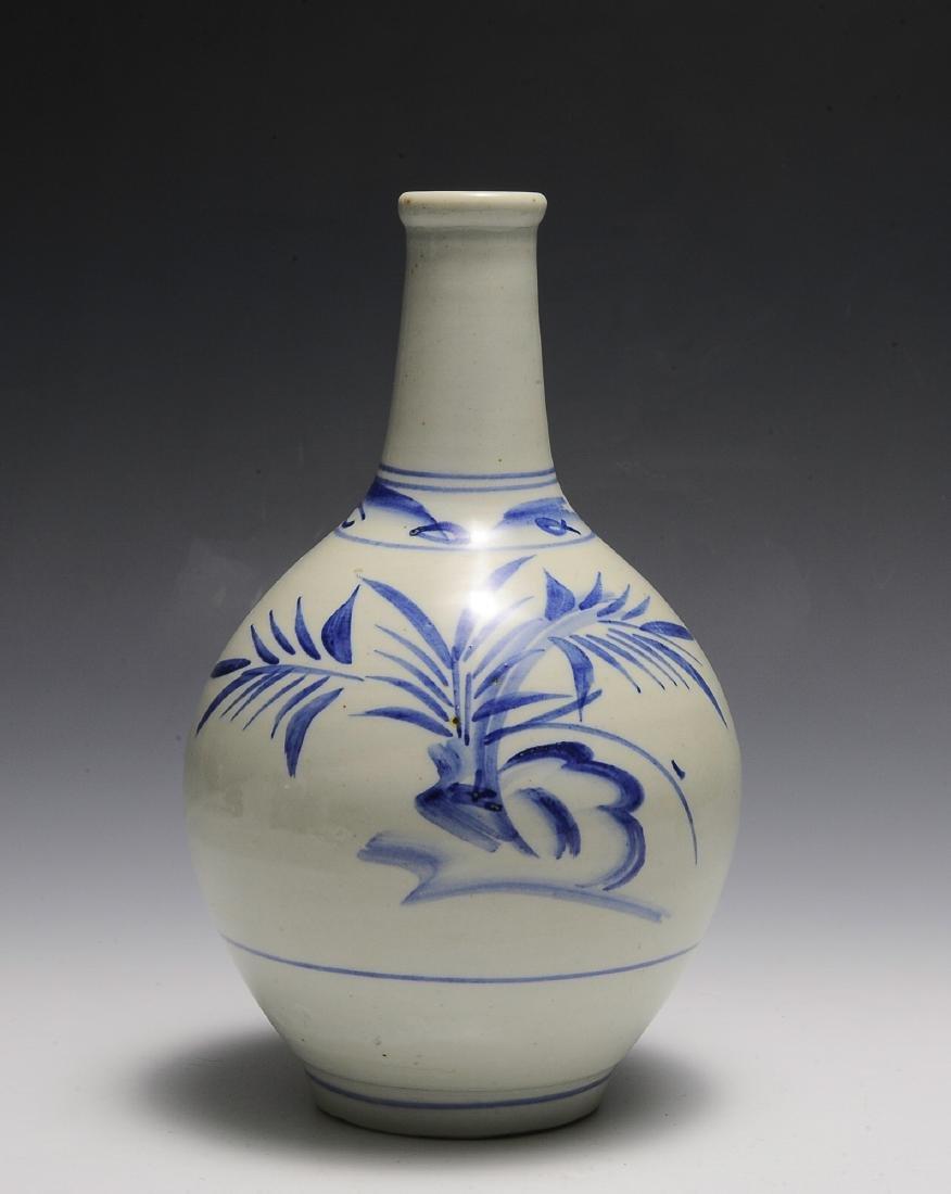 Asian Blue & White Ceramic Vase