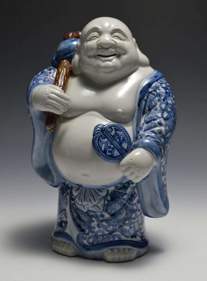 Chinese Blue & White Porcelain Budai