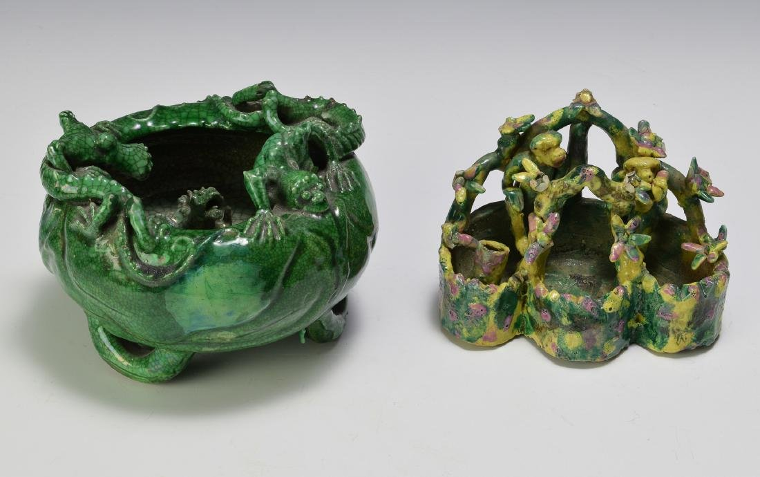 2 Chinese Scholars Items, 19th Century