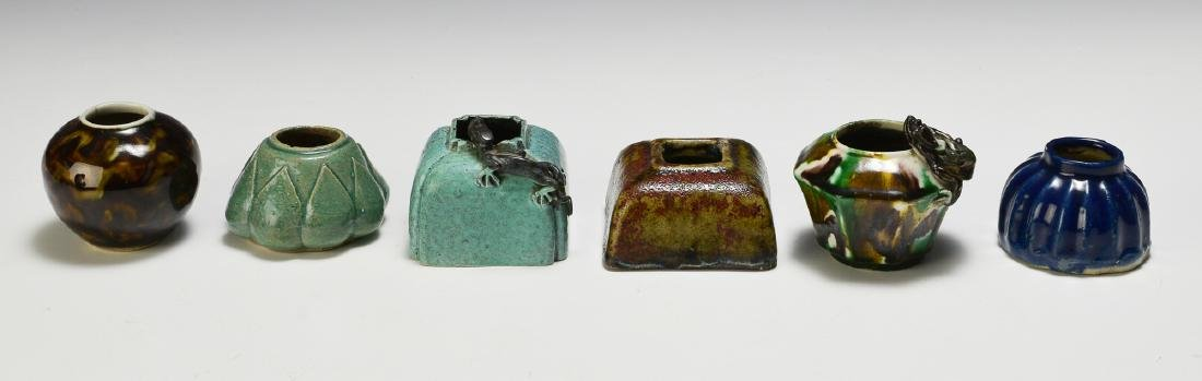 Group of 6 Chinese Multi-Color Water Coupes 18th-19th C