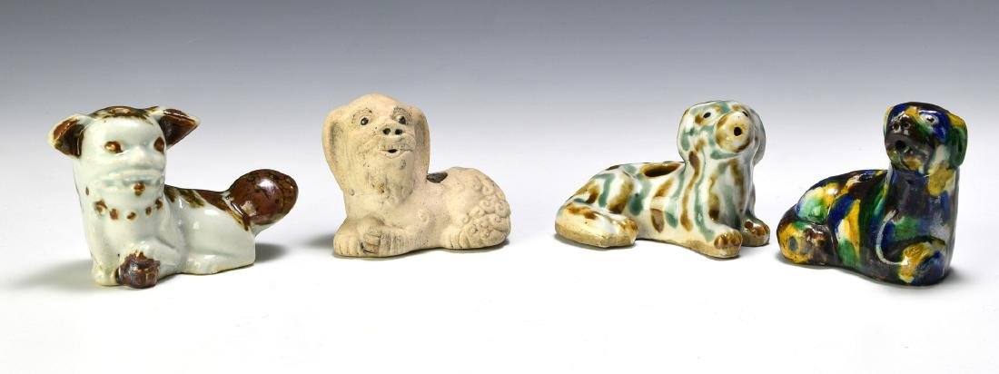 Group of 4 Chinese Dog Form Water Droppers