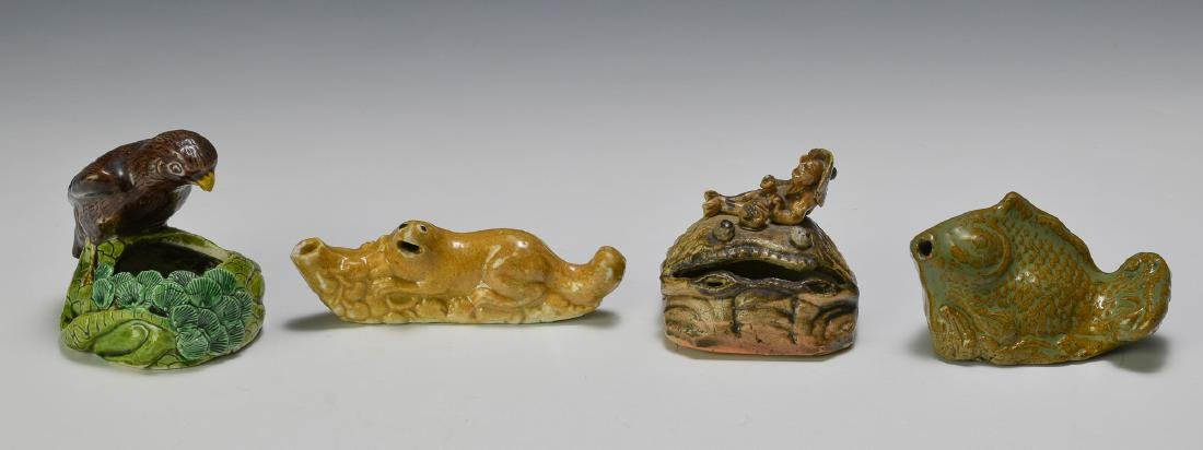 Group of 4 Chinese Animal Form Scholars Items 19th C