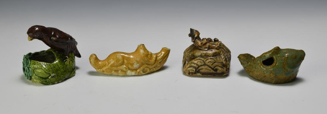 Group of 4 Chinese Animal Form Scholars Items 19th C - 2