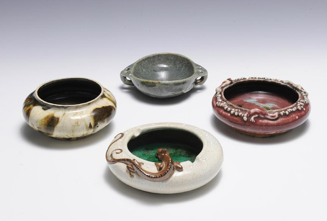 Group of 4 Chinese Brush Washers, 18th - 19th C