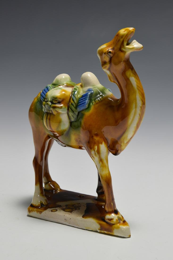 Chinese Tang Style Camel & 2 Guardian Lions