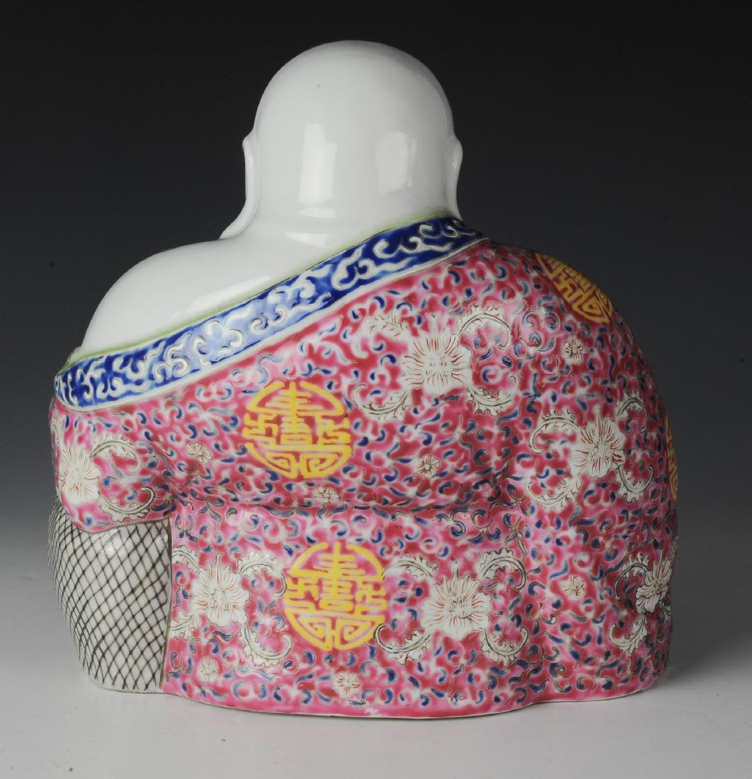 Chinese Famille Rose Porcelain Budai - 2