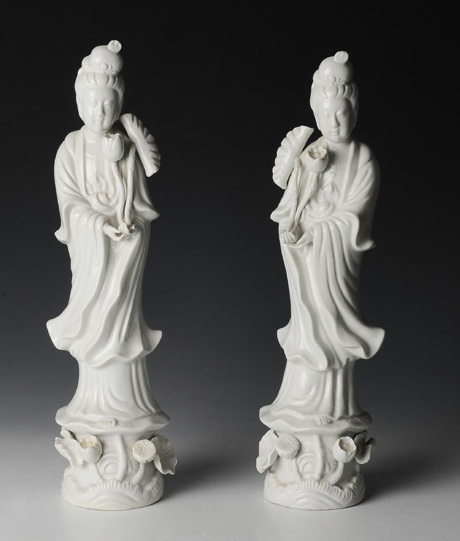2 Japanese Porcelain Figures, Seiyi Company
