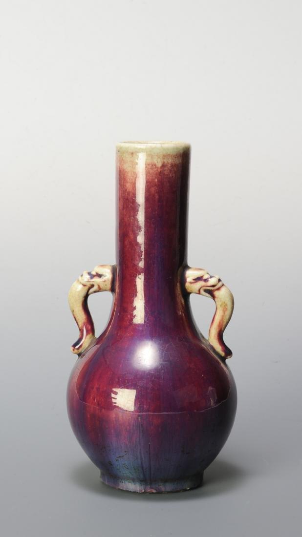 Chinese Flambe Vase w/ Handles, 19th Century - 3