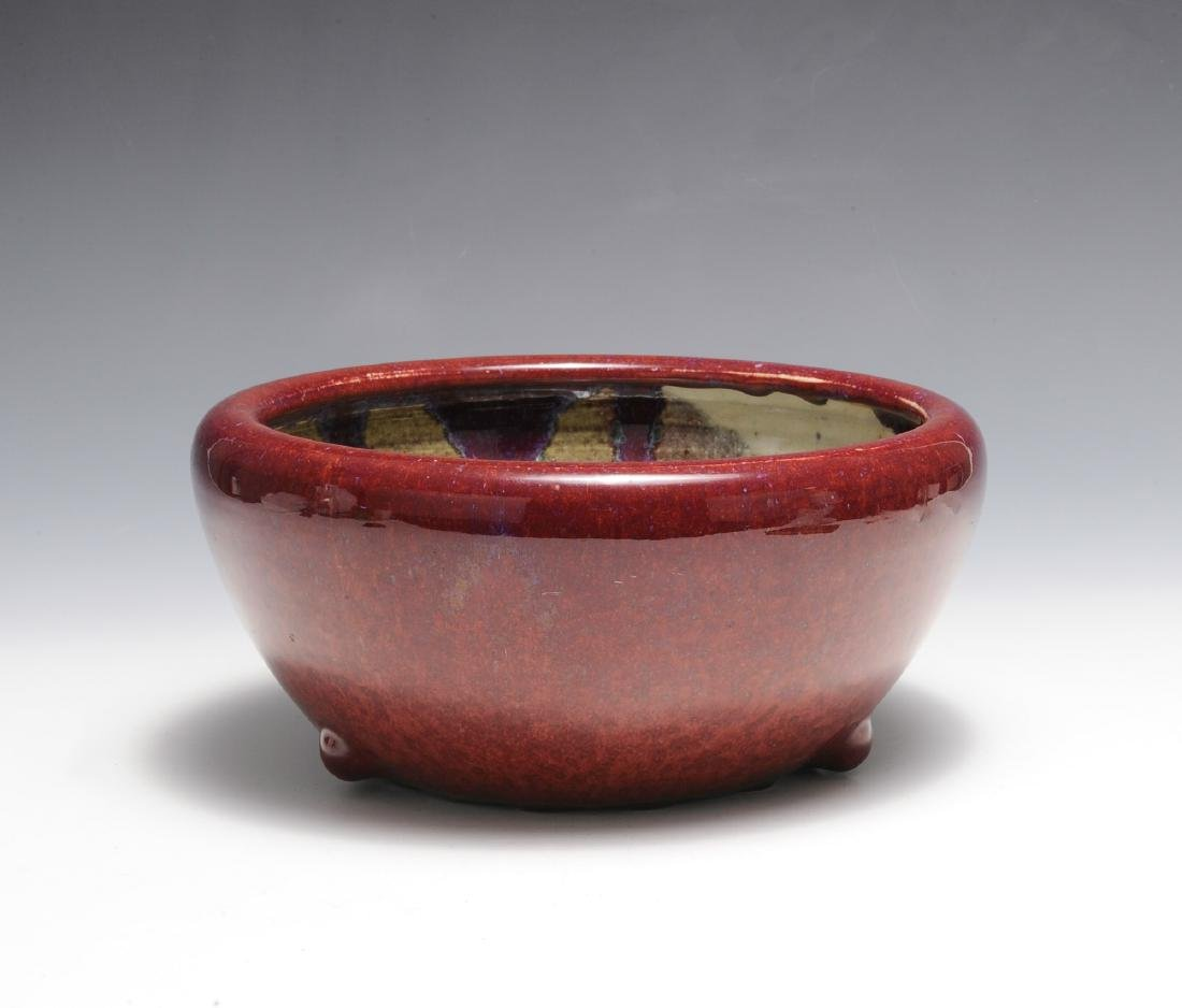 Chinese Red Flambe Glazed Bowl, 18th - 19th C