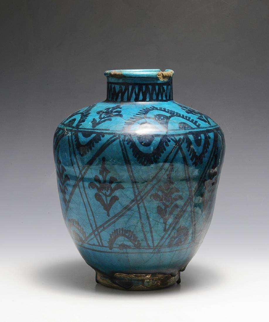 Turquoise Overglaze Vase