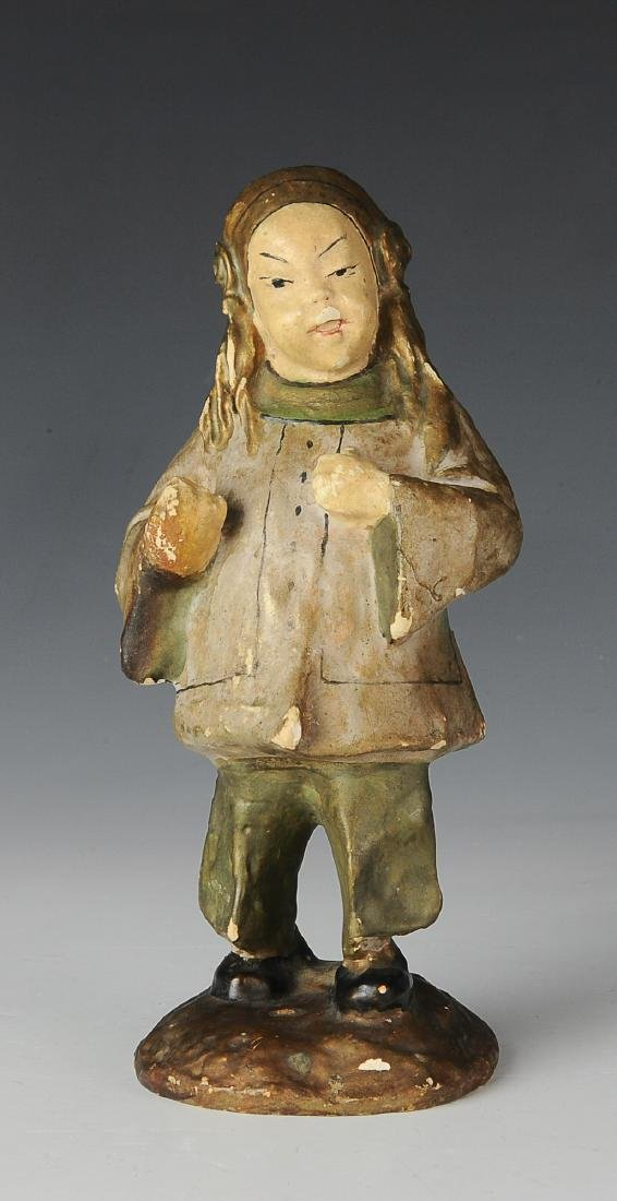 Plaster Figure of an Asian Individual
