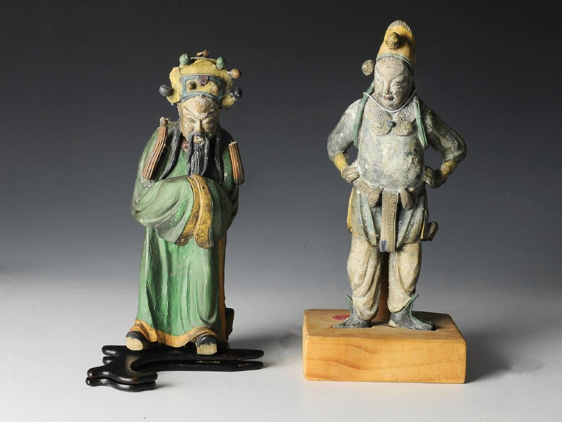 Pair of Chinese Figures - Architectural Elements