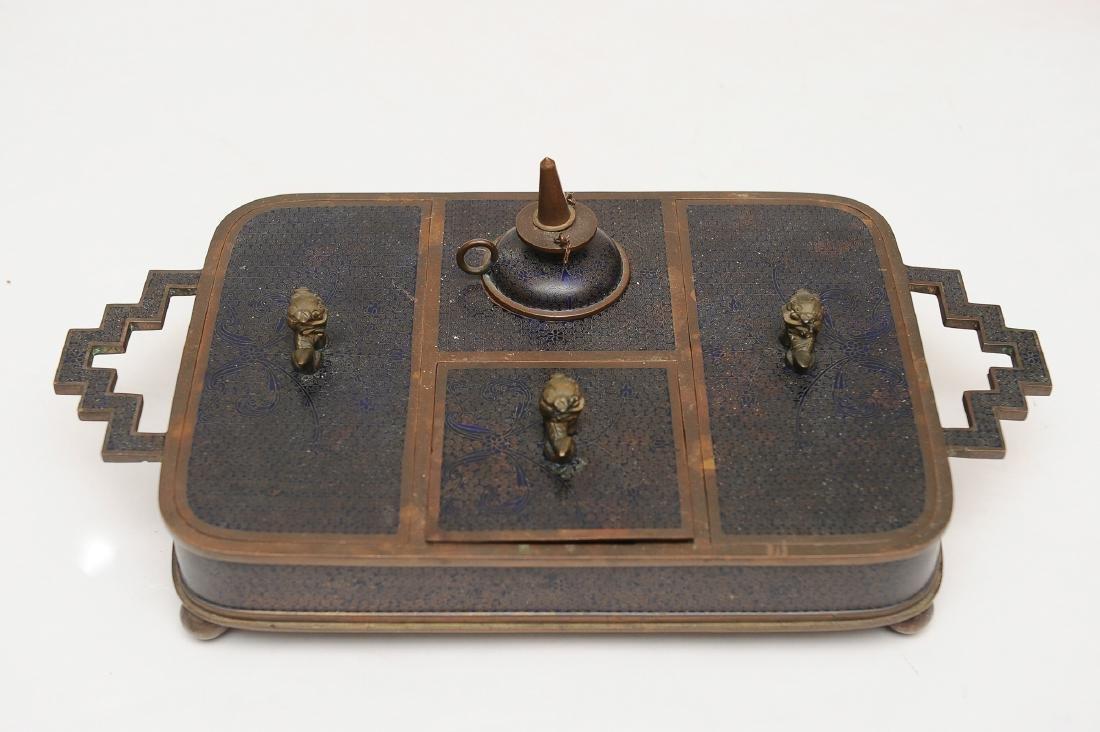 Chinese Enameled Opium Set, Republic