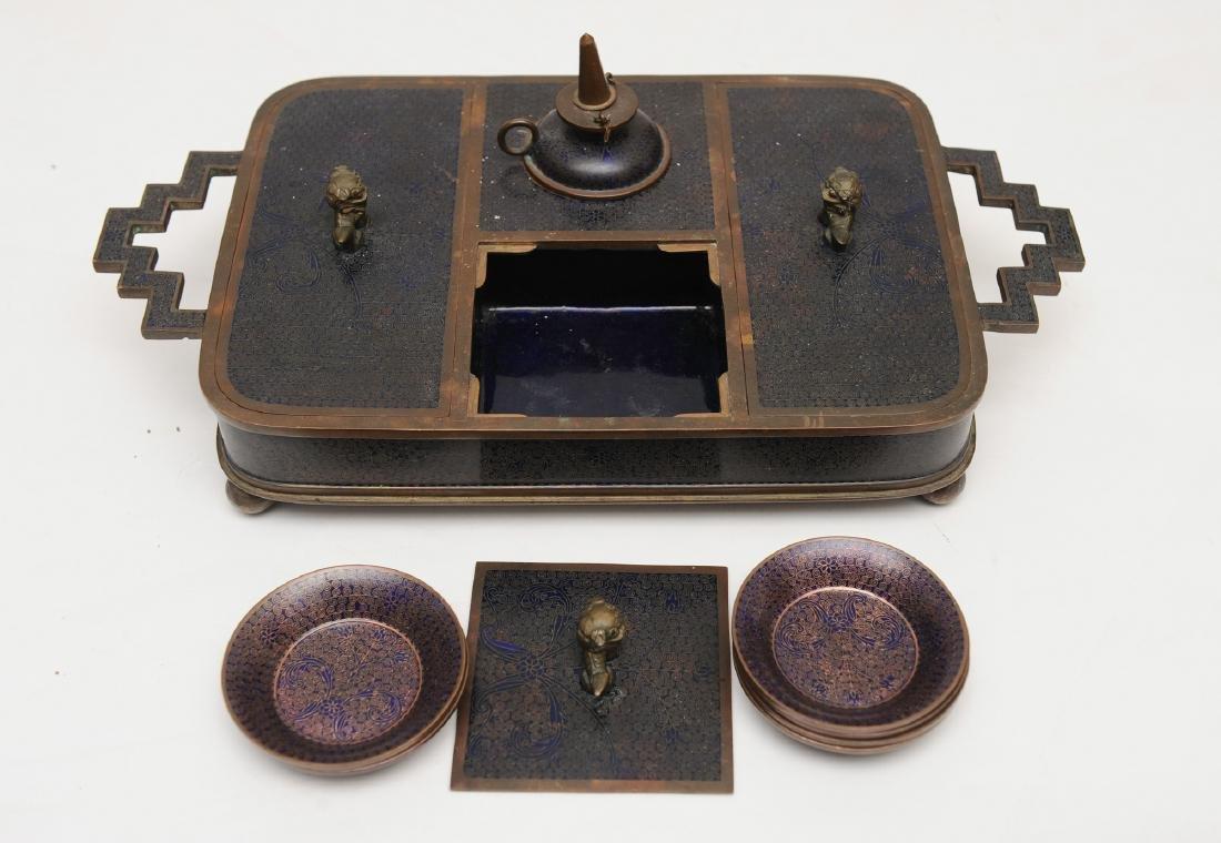 Chinese Enameled Opium Set, Republic - 2