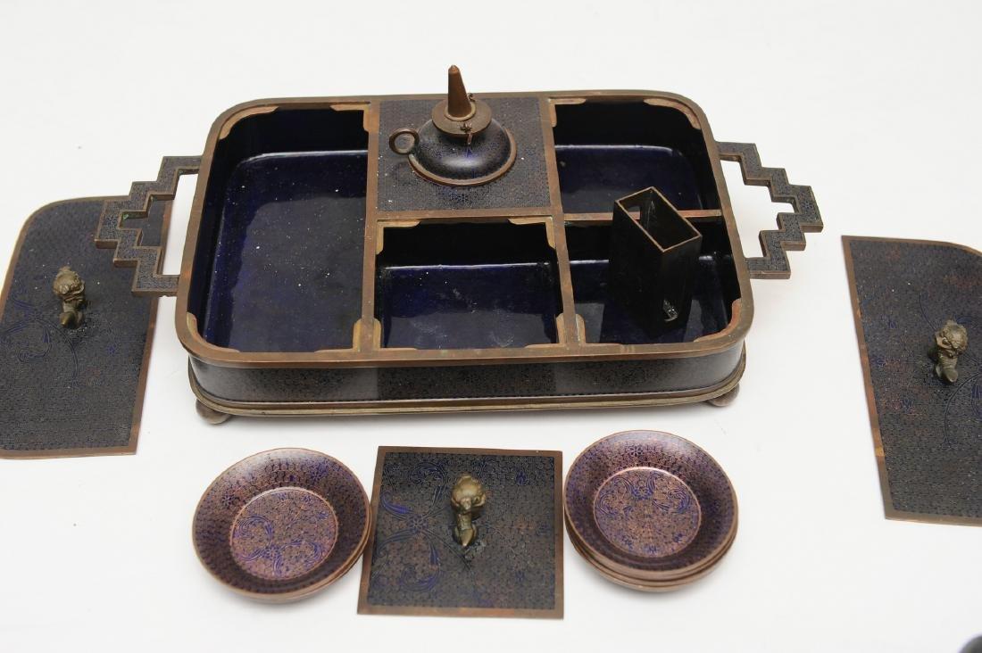 Chinese Enameled Opium Set, Republic - 3