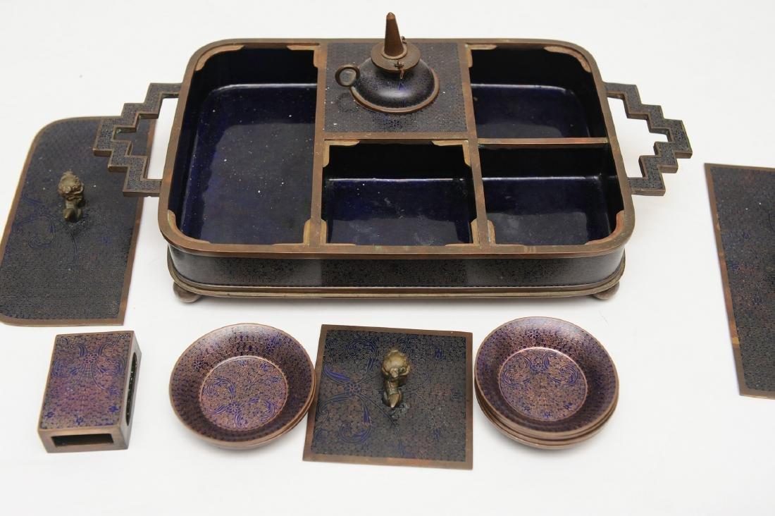 Chinese Enameled Opium Set, Republic - 4