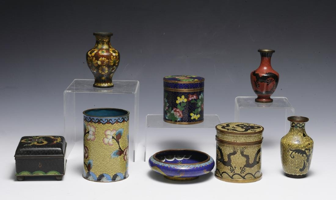 8 Chinese Cloisonne Objects, 19th - Early 20th C - 2