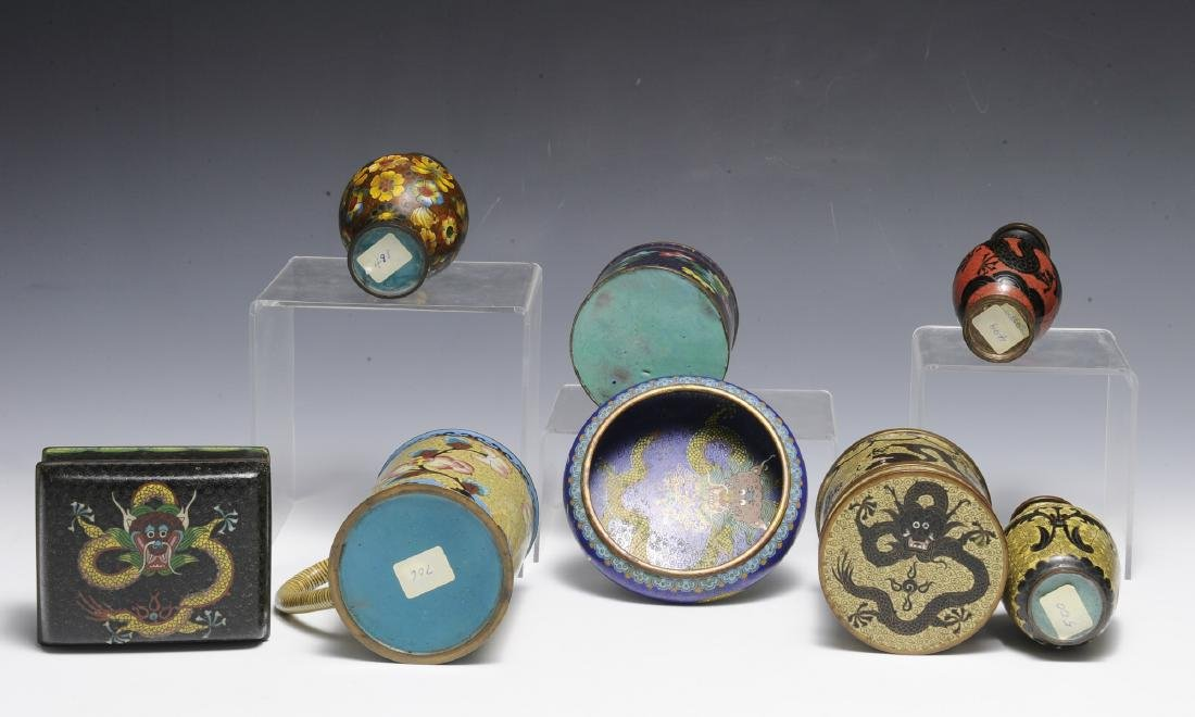 8 Chinese Cloisonne Objects, 19th - Early 20th C - 3
