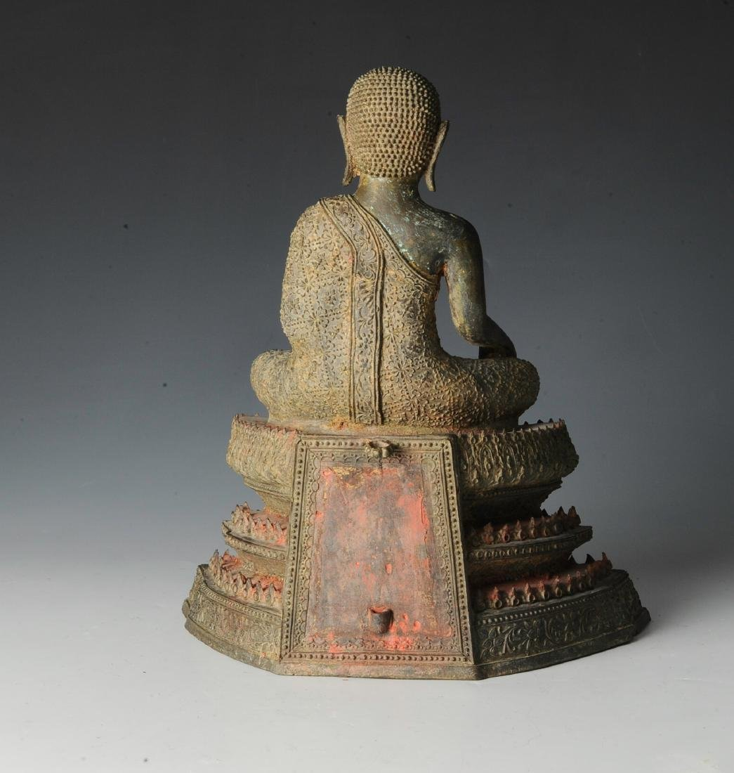 Seated Bronze Buddha in Bhumisparsha - 3