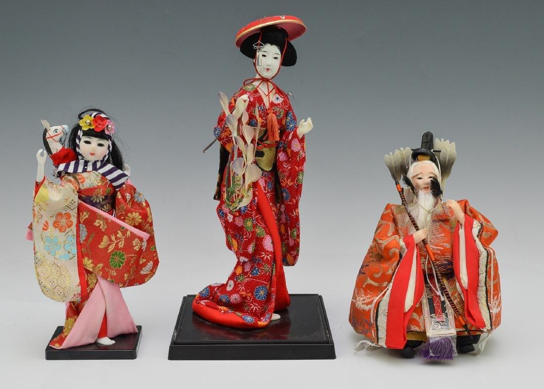 2 Japanese Dolls & Korean Doll of Emperor